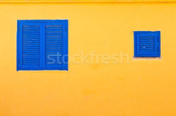 Niebieski Windows Zdjęcia stock © david010167