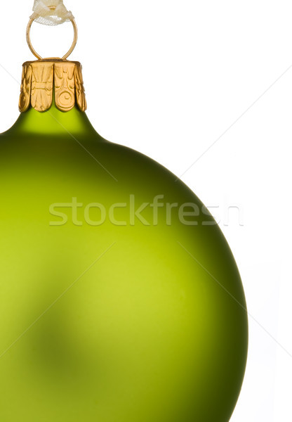 Vibrant green Christmas Bauble on isolated white Stock photo © david010167