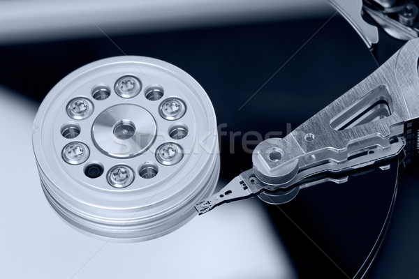 Wewnątrz komputera dysk twardy technologii serwera rekord Zdjęcia stock © david010167
