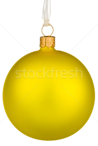 Canlı sarı Noel önemsiz şey yalıtılmış beyaz Stok fotoğraf © david010167