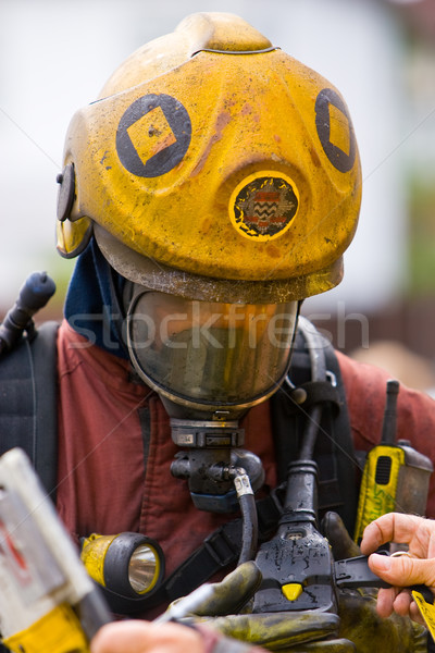 Hulpdiensten brand mannen pak dienst gas Stockfoto © david010167