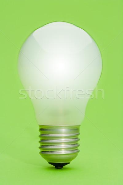 żarówka zielone żarówki studio elektryczne Zdjęcia stock © david010167