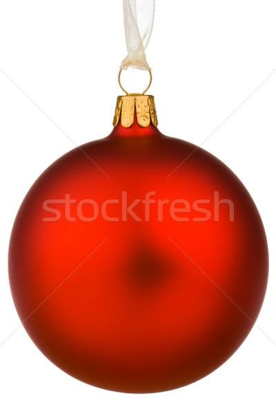 Vibrante rojo Navidad chuchería aislado blanco Foto stock © david010167