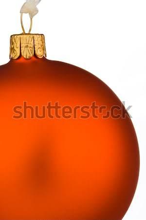 Yakın atış kırmızı önemsiz şey altın iplik Stok fotoğraf © david010167