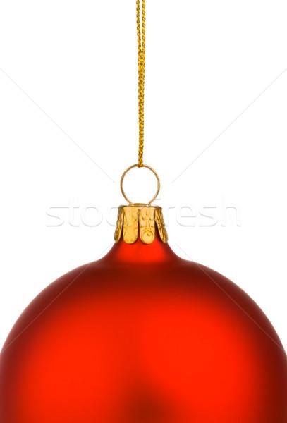 Wibrujący czerwony christmas cacko odizolowany biały Zdjęcia stock © david010167