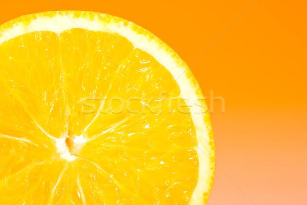 Taze turuncu dilim turuncu doğa meyve Stok fotoğraf © david010167