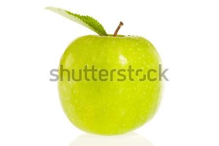 Taze yeşil elma beyaz gıda yaprak Stok fotoğraf © david010167