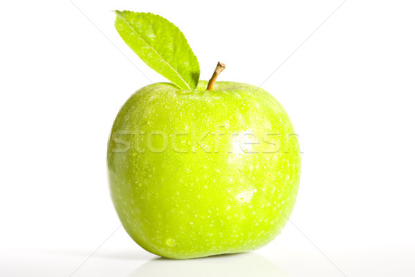 Taze yeşil elma gıda yaprak renk Stok fotoğraf © david010167