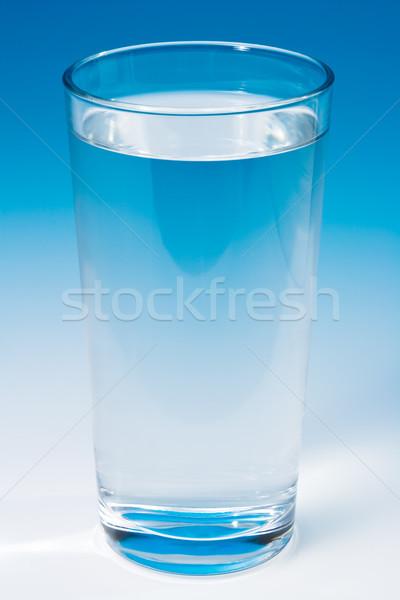 Cam su mavi eğim içmek serin Stok fotoğraf © david010167