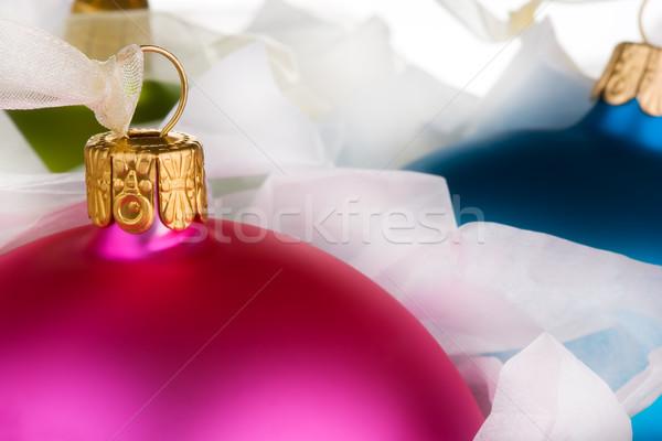 Noel kutu mavi altın renk depolamak Stok fotoğraf © david010167