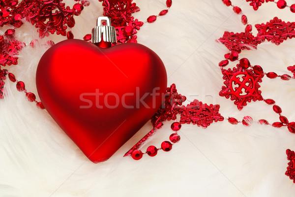 Noel kalp dekorasyon beyaz kürk star Stok fotoğraf © david010167