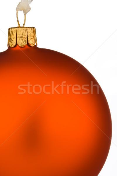 Foto stock: Vibrante · naranja · Navidad · chuchería · aislado · blanco