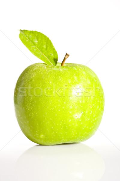 Taze yeşil elma taze meyve yaprak gıda Stok fotoğraf © david010167