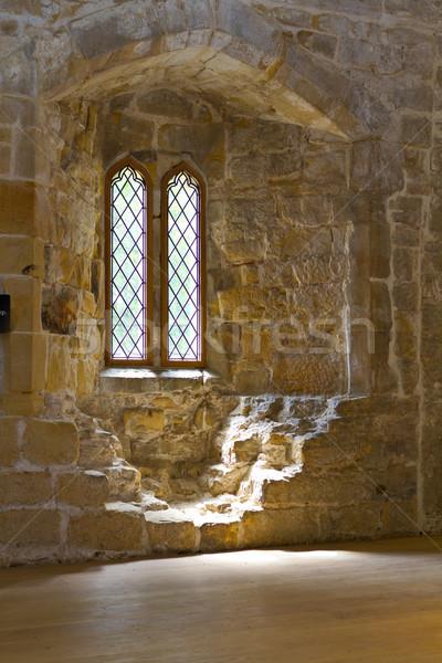 старые аббатство окна стекла Windows известняк Сток-фото © david010167
