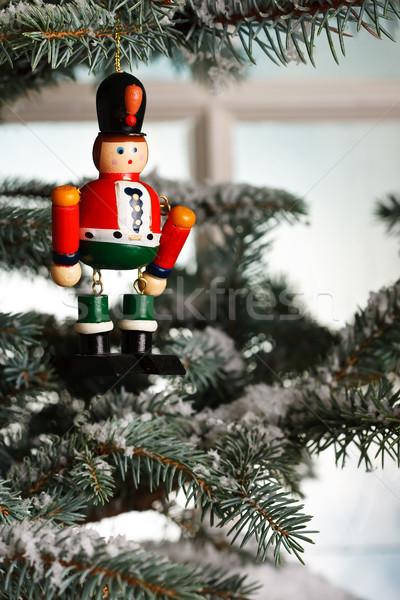 Christmas zabawki drzewo szkła śniegu czasu Zdjęcia stock © david010167