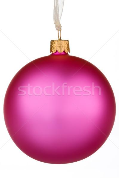 Lebendige rosa Weihnachten Spielerei isoliert weiß Stock foto © david010167