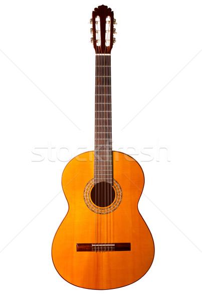 Klassiek akoestische gitaar geïsoleerd witte textuur Stockfoto © david010167