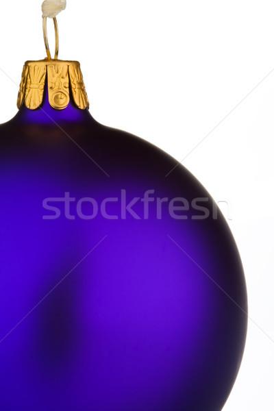 Wibrujący fioletowy christmas cacko odizolowany biały Zdjęcia stock © david010167