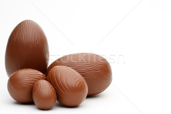 Czekolady Easter Eggs odizolowany biały Wielkanoc Zdjęcia stock © david010167