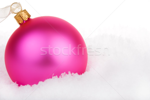 Rosa Weihnachten Spielerei Schnee grünen Spaß Stock foto © david010167