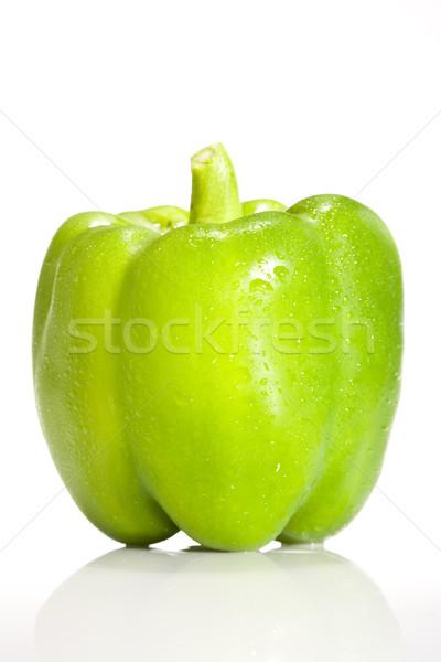 Yeşil biber taze gıda gıda meyve arka plan Stok fotoğraf © david010167
