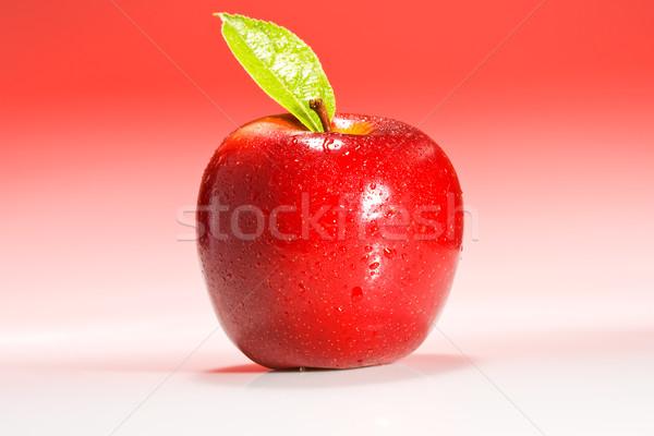 Kırmızı elma su elma meyve içmek Stok fotoğraf © david010167