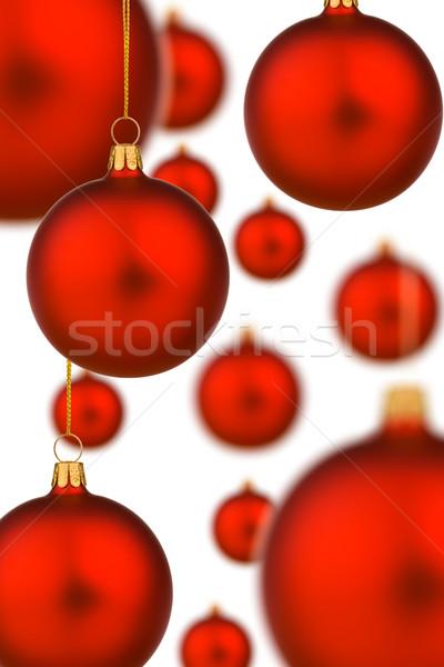 Canlı kırmızı Noel altın iplik eğlence Stok fotoğraf © david010167