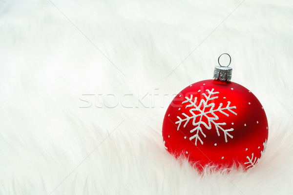 Red snow flake bauble Stock photo © david010167