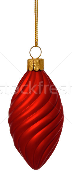 Crimson Christmas twist bauble on gold thread Stock photo © david010167