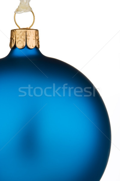 Canlı mavi Noel önemsiz şey yalıtılmış beyaz Stok fotoğraf © david010167