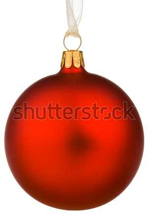 Wiszący czerwony christmas zabawy dekoracji świętować Zdjęcia stock © david010167