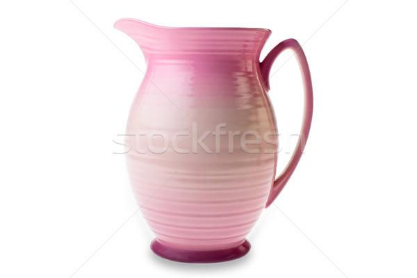 Isolato rosa argilla brocca Foto d'archivio © david010167