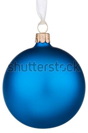 Vibrante blu Natale gingillo isolato bianco Foto d'archivio © david010167