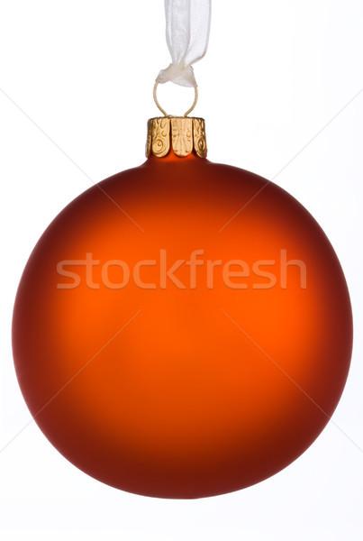 Trillend oranje christmas snuisterij geïsoleerd witte Stockfoto © david010167