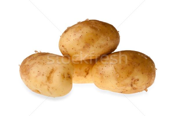 Nowego ziemniaki odizolowany tle gotowania obiektów Zdjęcia stock © david010167