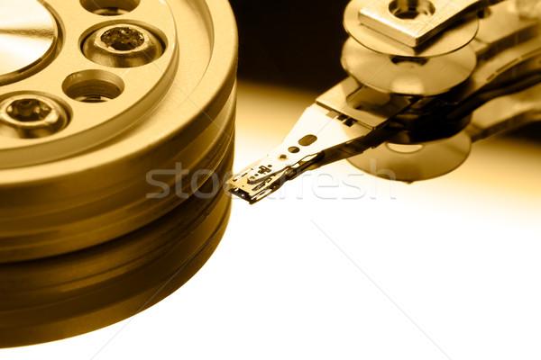 コンピュータ 技術 サーバー 金 メディア 書く ストックフォト © david010167
