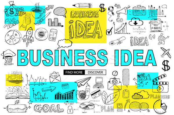 Big Idea  Concept with Doodle design style :finding solution, br Stock photo © DavidArts