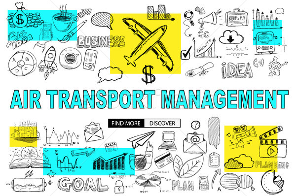 Air Transport Management Concept with Doodle design style :findi Stock photo © DavidArts