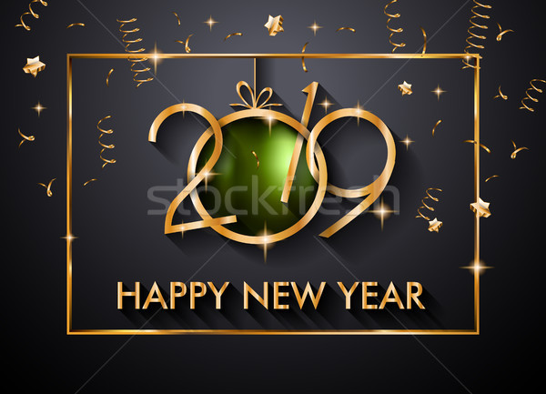 2019 Happy New Year Background for your Seasonal Flyers and Gree Stock photo © DavidArts