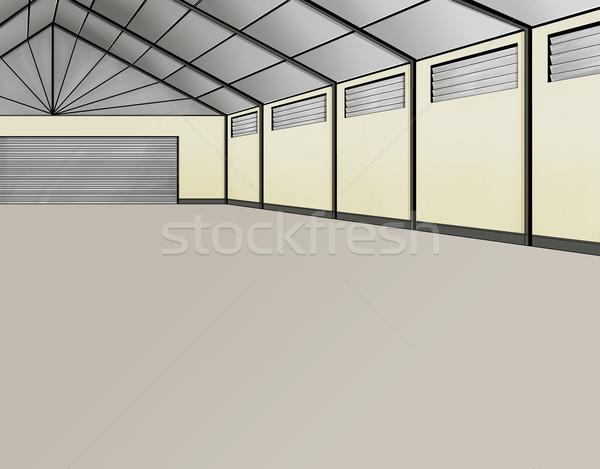 Vide grand nouvelle entrepôt travaux fond Photo stock © davisales
