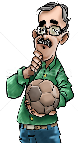 Trenerem Portugalia człowiek okulary zespołu piłka Zdjęcia stock © davisales
