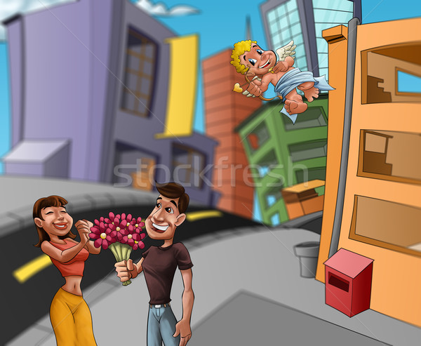 lovers in the street Stock photo © davisales