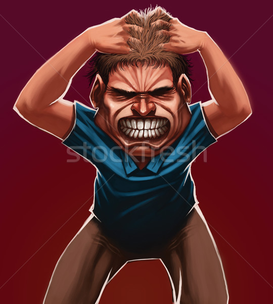 Stock photo: angry