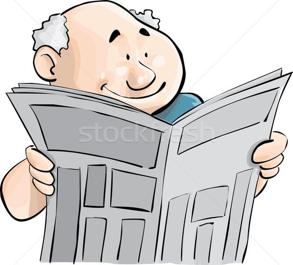 Journal homme lecture affaires beauté succès Photo stock © davisales