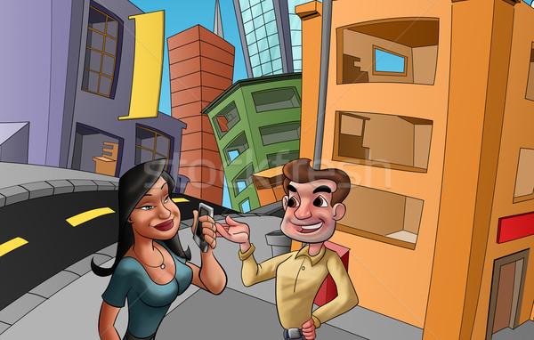 meeting in the street Stock photo © davisales