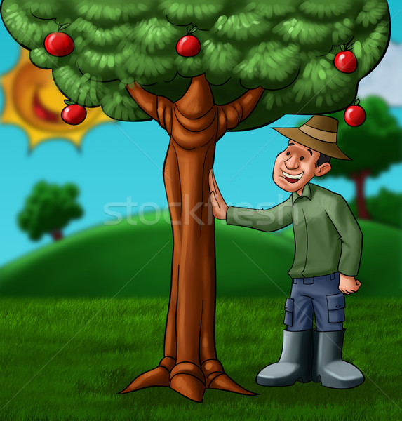 the farmer and the tree Stock photo © davisales