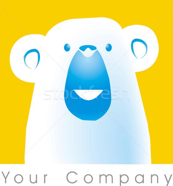 Ponosi logo niedźwiedzia polarnego żywności skóry firmy Zdjęcia stock © davisales