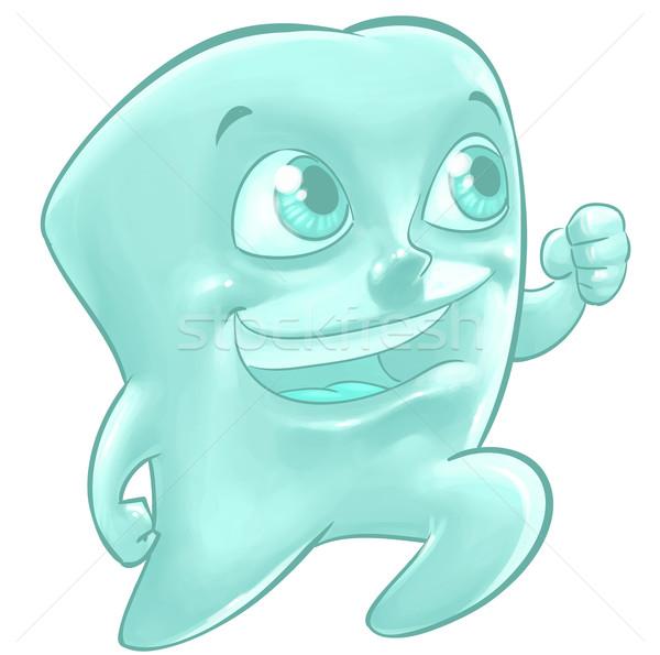 Illustration of a happy tooth Stock photo © davisales