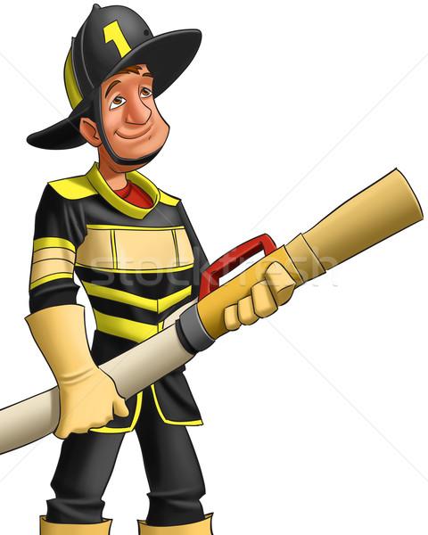 消防 準備 開始 戦う 火災 男 ストックフォト © davisales
