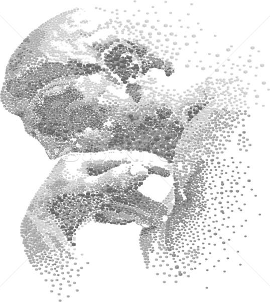 Myśliciel budować sztuki przestrzeni głowie zdaniem Zdjęcia stock © davisales